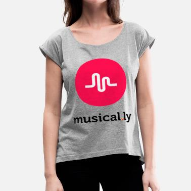 Musically Logo musically logo - Women's Roll Cuff T-Shirt