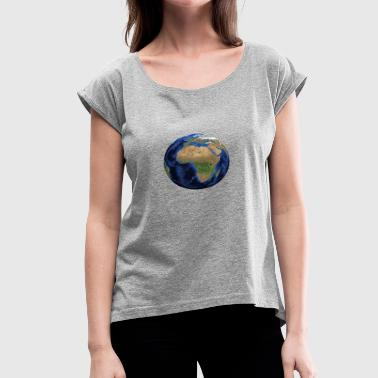 Africa Products world globe Africa - Women's Roll Cuff T-Shirt