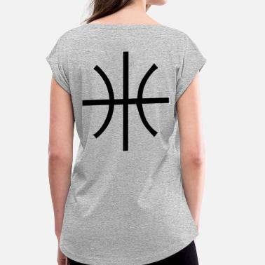 Ballislife BBALL STRAIGHT - Women's Roll Cuff T-Shirt