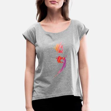 Health SemiColon Mental Health Suicide Awareness Design - Women's Rolled Sleeve T-Shirt