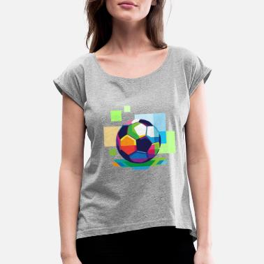 Colorado Springs football in color - Women's Roll Cuff T-Shirt