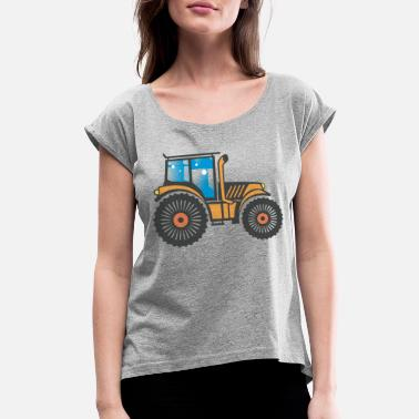 Image Tractor Image - Women's Rolled Sleeve T-Shirt