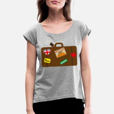 Suitcase suitcase - Women's Rolled Sleeve T-Shirt