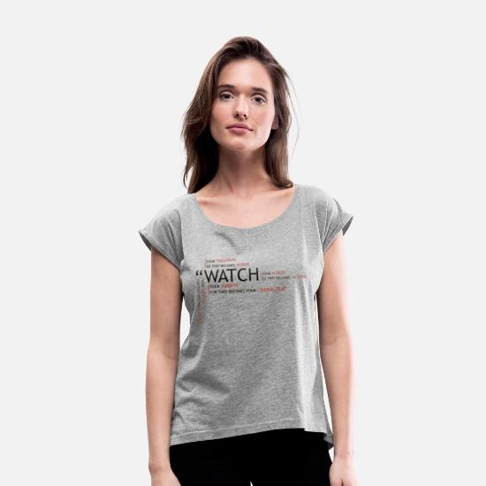 Thoughts T-Shirts - watch - Women's Rolled Sleeve T-Shirt heather gray