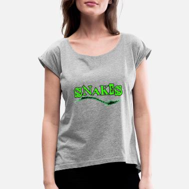 Tiger Snake Snakes - Women's Rolled Sleeve T-Shirt