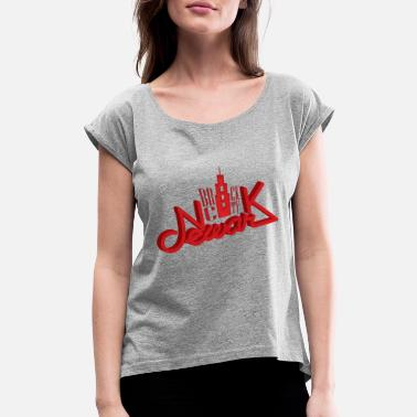 NEWARK Brick City - Women's Roll Cuff T-Shirt