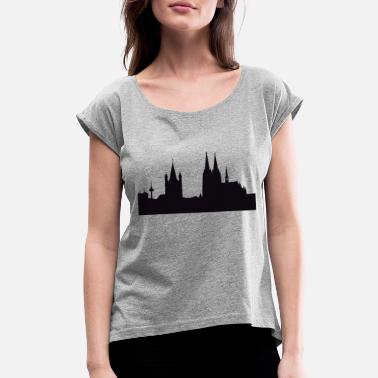 Cathedral Cathedral Illustration - Women's Rolled Sleeve T-Shirt