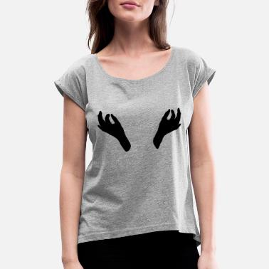 Nipples nipple play - Women's Rolled Sleeve T-Shirt