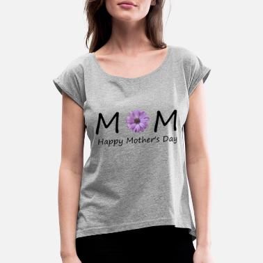 mom2 - Women's Roll Cuff T-Shirt