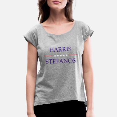 Election Campaign Harris/Stefanos Presidential Campaign Logo - Women's Rolled Sleeve T-Shirt