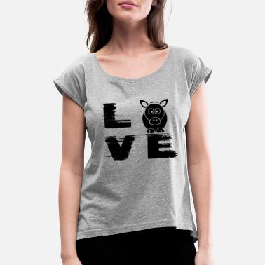 Donkey Clothes Donkey Love T Shirt - Women's Roll Cuff T-Shirt