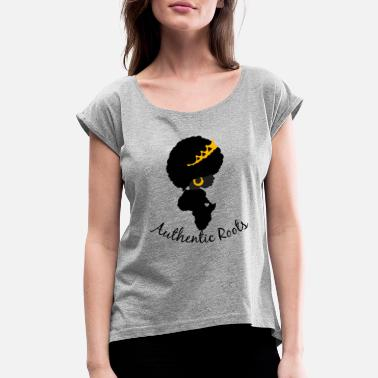 We Beautiful People Culture Collection Authentic Roots - Women's Roll Cuff T-Shirt