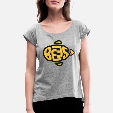Bee Bees Bee Save the bees gift - Women's Rolled Sleeve T-Shirt