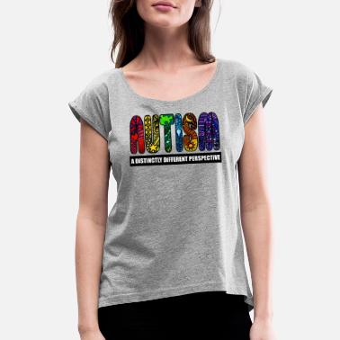 Education BEST Autism Design - Women's Rolled Sleeve T-Shirt