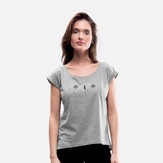 Sword T-Shirts - sword - Women's Rolled Sleeve T-Shirt heather gray