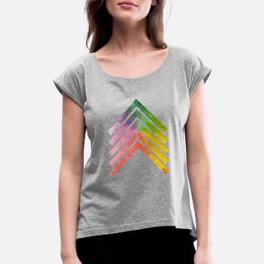 Arrows Rainbow Arrow - Women's Rolled Sleeve T-Shirt
