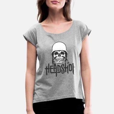 Head Shot head shot - Women's Roll Cuff T-Shirt
