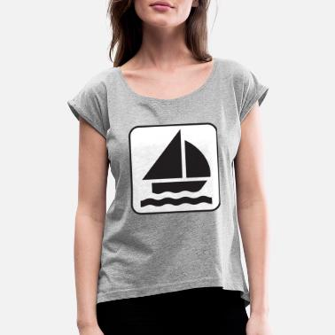 Paddle Boat paddle boat sail boat ruderboot segelboot29 - Women's Rolled Sleeve T-Shirt