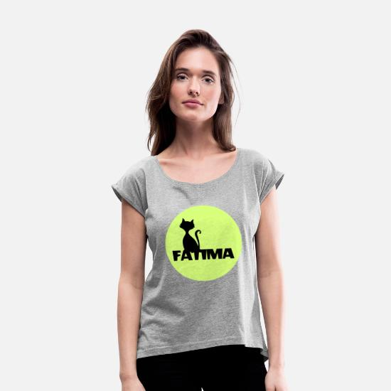 Fatima T-Shirts - Fatima first name - Women's Rolled Sleeve T-Shirt heather gray