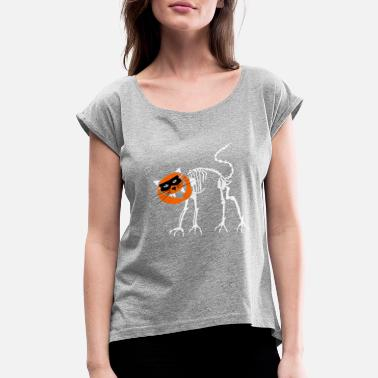 Peter Scott CataWaki Halloween... REOW! - Women's Roll Cuff T-Shirt