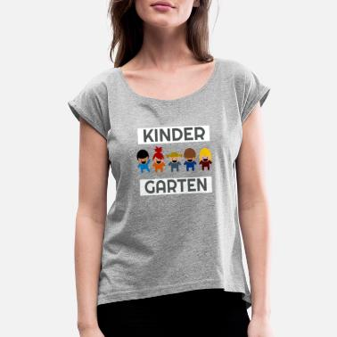 Kindergarten Rocks Kindergarten - Women's Roll Cuff T-Shirt