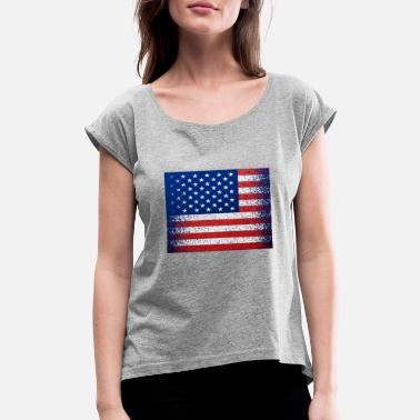 Indian Grandfather Fourth of July American Made - Women's Roll Cuff T-Shirt