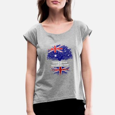 England Living Australia Roots Great Britain - gift - Women's Rolled Sleeve T-Shirt