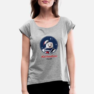 Stay Puft marshmallow stay puft - Women's Rolled Sleeve T-Shirt