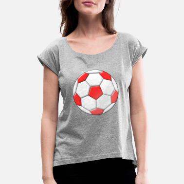 Moleskin Football - Women's Rolled Sleeve T-Shirt