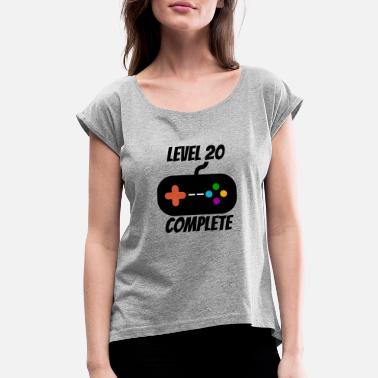 20th Birthday Designs Level 20 Complete 20th Birthday - Women's Rolled Sleeve T-Shirt