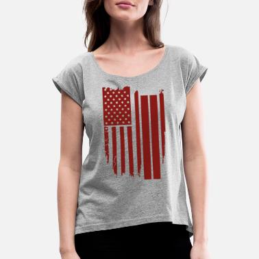 Usa USA USA USA - Women's Rolled Sleeve T-Shirt