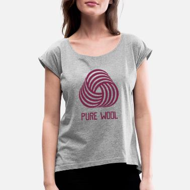 Wool Pure Wool - Women's Rolled Sleeve T-Shirt