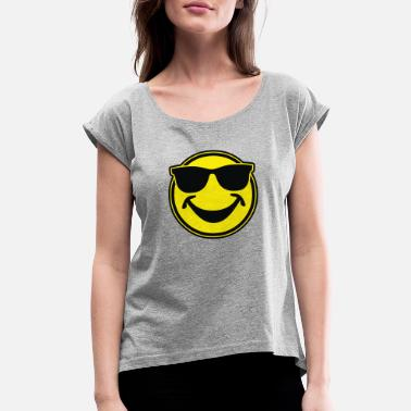 Smiley Couples SMILEY BRO - Women's Roll Cuff T-Shirt