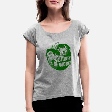 Phallus Disney World Peter Pan fan - Didney worl? - Women's Rolled Sleeve T-Shirt