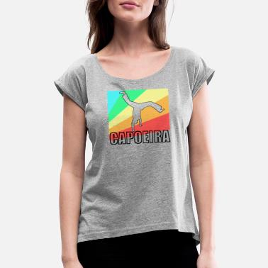 Mixed Martial Ar Capoeira fighting dance Brazil gift - Women's Rolled Sleeve T-Shirt
