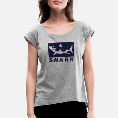 Blue Gill Shark - Women's Roll Cuff T-Shirt