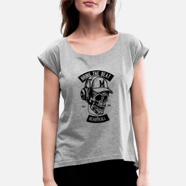 World Dj DJ world - Women's Rolled Sleeve T-Shirt