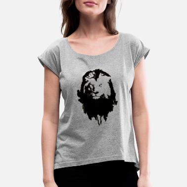 Bold Lion - Women's Rolled Sleeve T-Shirt