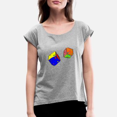 Dice dices - Women's Rolled Sleeve T-Shirt