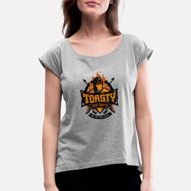Toasty Toasty Kombat - Women's Rolled Sleeve T-Shirt