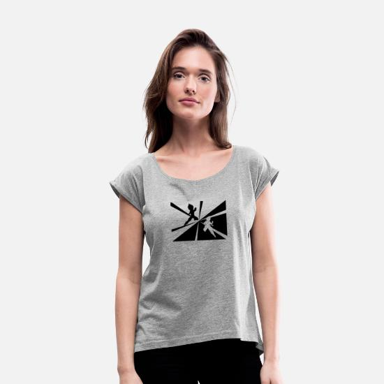 Nature T-Shirts - New Design The Battle Best Seller - Women's Rolled Sleeve T-Shirt heather gray