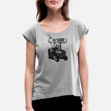 George Jones T Shirts George Jones Riding Lawn Mow - Women's Rolled Sleeve T-Shirt
