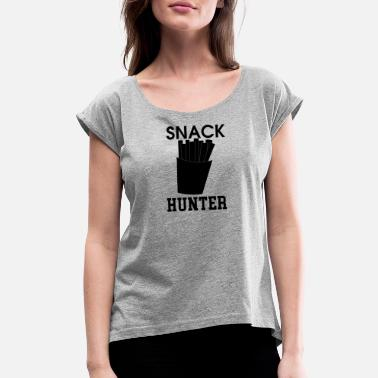 Snack Joint snack hunter - Women's Rolled Sleeve T-Shirt