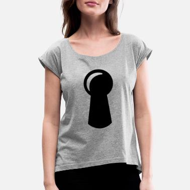 Keyhole keyhole - door - Women's Rolled Sleeve T-Shirt