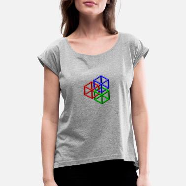 Clip Art clip art geometric designs - Women's Rolled Sleeve T-Shirt