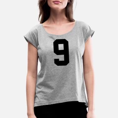 Jersey Number 0914, Number, Sports, Jersey, Team, Varsity - Women's Rolled Sleeve T-Shirt