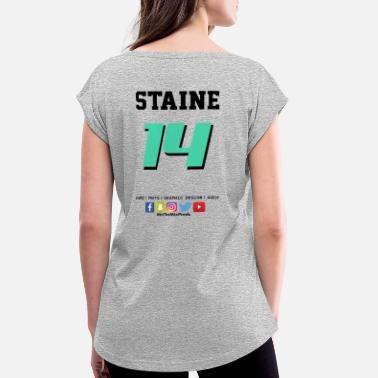 Jersey Number Jersey Number - Women's Rolled Sleeve T-Shirt