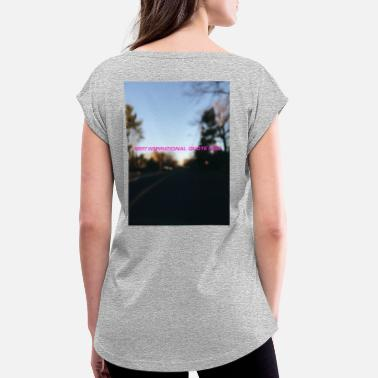 Blurry insert blurry quote here - Women's Rolled Sleeve T-Shirt