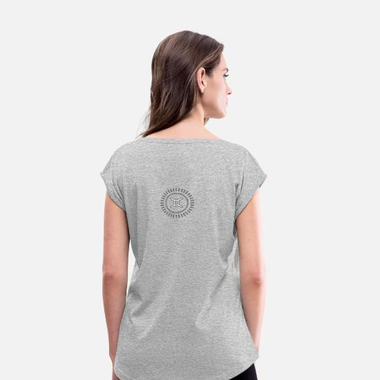 Gemini T-Shirts - Gemini - Women's Rolled Sleeve T-Shirt heather gray