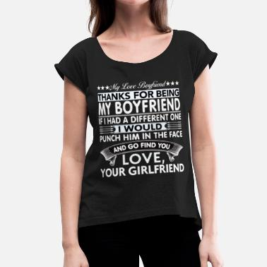 Awesome Boyfriend Dear Boyfriend... - Women's Rolled Sleeve T-Shirt
